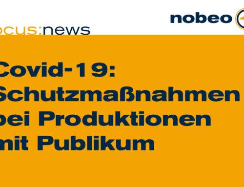 Covid-19-Schutzmaßnahmen bei Produktionen mit Publikum