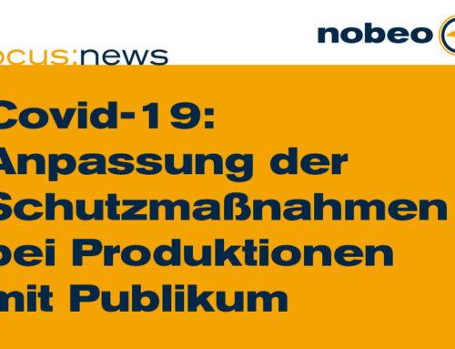 Anpassung der COVID-19-SCHUTZMASSNAHMEN BEI PRODUKTIONEN MIT PUBLIKUM