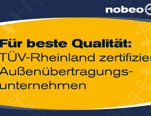 Für beste Qualität: TÜV-Rheinland zertifiziert Außenübertragungsunternehmen